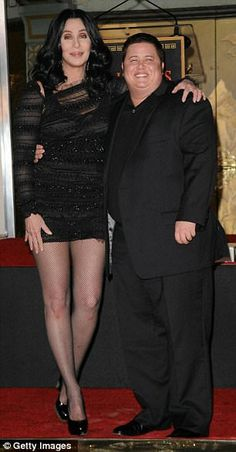 Cher and Chaz ( Chaz used to be Sonny and Cher's little girl, Chastity)