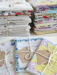 wedding invites, send out fabric swatches with the invitations and ask guests to write words of advice for the couple on them and bring them back for a guestbook quilt