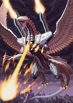 Fantasy Dragon, Fantasy Warrior, Fantasy Art, Robot Concept Art, Creature Concept Art, Fantasy Creatures, Mythical Creatures, Animal Robot, Robot Dragon