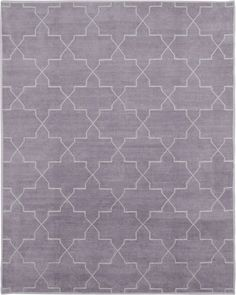 Lilac Brooke Handwoven chenille carpet, metallic motif http://madelineweinrib.com/ Madeline Weinrib