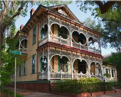 Here is a beautiful house on Bull Street in Savannah, GA. I went to there several times when I lived in Charleston.
