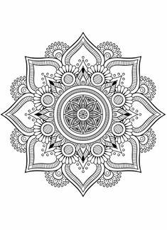 Flower Mandala Doodle Doodle Is Art – Coloring Mandalas Abstract Coloring Pages, Flower Coloring Pages, Mandala Coloring Pages, Coloring Book Pages, Printable Coloring Pages, Coloring Sheets, Mandala Doodle, Mandala Drawing, Doodle Doodle
