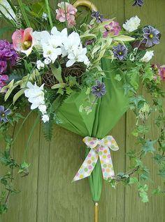 """April Showers bring May Flowers."" DIY (Inspiration) for Darling Door Decor!"