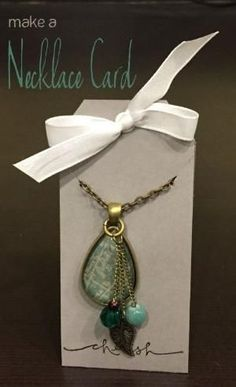 A Necklace Card is simple to make. Great for when selling jewelry or giving it away as a gift. Custom jewelry deserves a custom jewelry card. by cathy