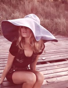 Brigette Bardot-seriously this hat needs to be mine universe can you hear me :}