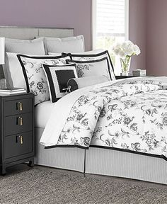 Martha Stewart Collection Dusk Blossom 6 Piece Comforter Sets - All Martha Stewart Bed & Bath - Bed & Bath - Macy's #MarthaMacys