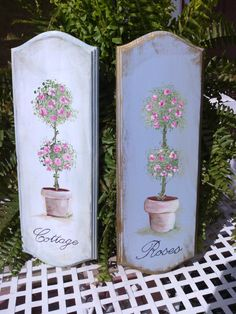 Cottage Rosebud Topiary Wall Decor Hanger