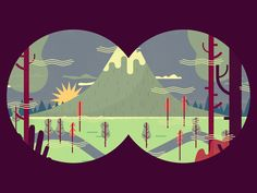 Binoculars by Owen Davey