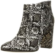 Sam Edelman Women's Cambell Ankle Bootie, Black/Gold, 6.5-$170.00