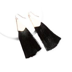 Your go to pair for everyday wear this season! You will never go wrong with a pair of tassels earrings and mostly certainly you get it right when you wear them in black. Fish Hook, Tassel Earrings, Fashion Forward, Tassels, Pairs, Womens Fashion, Cotton, How To Wear, Black