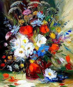 Alexander Sergeev - Arte en Flores - Óleos con Espátula