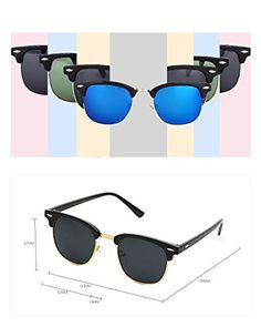 GUVIVI Neutral Retro Border Polarized Sunglasses *** You can find more details by visiting the image link. (This is an affiliate link) Summer Sunglasses, Sunglasses Women, Neutral, Polarized Sunglasses, Retro, Detail, Stuff To Buy, Image Link, Black