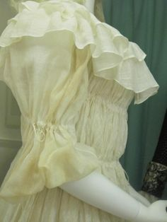 Sleeve detail, 18th century chemise gown, Platt Hall. Scandalous Liberty