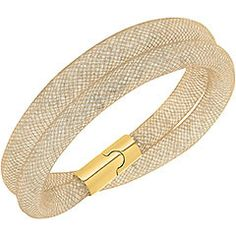Stardust Beige Double Bracelet...more of a champagne color and beautiful as a choker