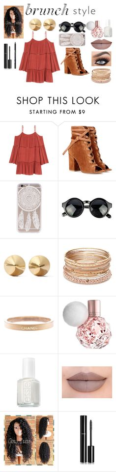 """brunch with friends look"" by sydneyk2004 on Polyvore featuring Gianvito Rossi, Eddie Borgo, Red Camel, Chanel, Essie, Jeffree Star and Urban Decay"