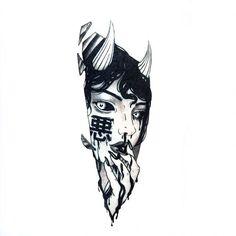 Oni Tattoo, Irezumi Tattoos, Dark Tattoo, Tattoo Sketches, Tattoo Drawings, Body Art Tattoos, Art Sketches, Sleeve Tattoos, Art Drawings