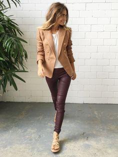 Camilla and Marc Galleria Wool Blend Blazer - Camel || Splice Boutique