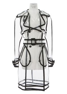 Wanda Nylon Coats :: Wanda Nylon transparent trench coat   Montaigne Market