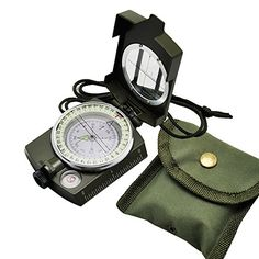 Carejoy Army Geology Compass Portable Military Compass Multifunctional Outdoor Camping Exploration Tool with Fluorescent Light -- Want to know more, click on the image.