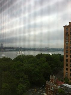 Fleet Week on The Hudson - looking north from W. 82nd st.