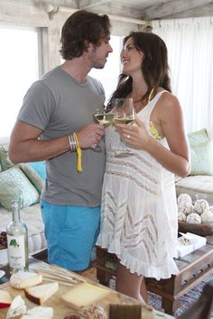Cheers! Ben Flajnik and Courtney Robertsons wine tasting party