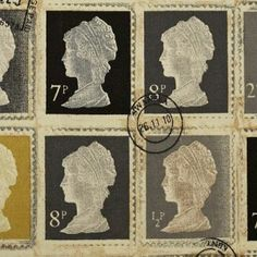 Prestigious Funky Stamps /'First Class/' Fabric