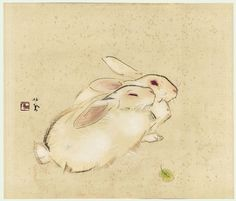 Fuji Arts Japanese Prints - Rabbits by Takeuchi Seiho - Rabbit Illustration, Illustration Art, Japanese Prints, Japanese Art, Year Of The Rabbit, Bunny Painting, White Rabbits, Rabbit Art, Bunny Art