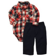 I love plaid! :) Carter's Baby Set Baby Boys Plaid Bodysuit and Pant Set - Kids - Macy's Little Boy Outfits, Baby Boy Outfits, Outfits Niños, Kids Outfits, Country Boys, Country Babies, Baby Boy Fashion, Kids Fashion, Bodysuit