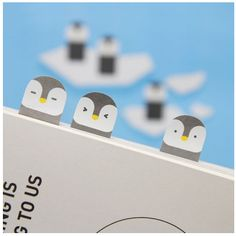 Penguin Index Sticky Note, not a need, but a WANT! How cute are the penguins?!