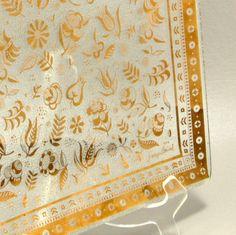 Georges Briard Persian Garden Square Platter Mid Century Modern Vtg. $22.00, via Etsy.