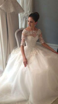 Steven Khalil 2014. Gorgeous! #wedding #weddingdress #fashion