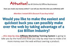 The Ultimate Little Known Affiliate Marketing Steps To Success  ClickBank is the retailer of this product. CLICKBANK® is a registered trademark of Click Sales, Inc., a Delaware corporation located at 917 S. Lusk Street, Suite 200, Boise Idaho, 83706, USA and used by permission. ClickBank?s role as retailer does not constitute an endorsement, approval or review of this product or any claim, statement or opinion used in promotion of this product. Please make your purchase deci
