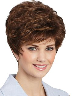 DESCRIPTION: Braxton Wig by Tony of Beverly is a synthetic short layered pixie, refreshingly classic in an updated silhouette easily finger styled. This perfect everyday easy hairdo Short Choppy Hair, Short Layered Haircuts, Short Hair With Layers, Short Curly Hair, Long Hair Cuts, Short Hairstyles For Women, Pretty Hairstyles, Wig Hairstyles, Curly Hair Styles