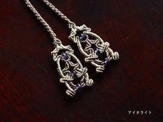 翡翠×アイオライト ネックレス