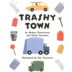 Read, Sarah, Read!: Flannel Friday: Trashy Town