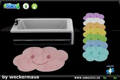 Blackys Sims 4 Zoo: Rug Laughing Cloud by weckermaus • Sims 4 Downloads