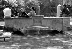 Students lounging by Botany Pond.  Given today's beautiful weather, you'll find us doing the same!  (Date unknown - any guesses?)  Photo courtesy of UChicago Photo Archive.