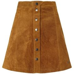 Numph Carla Suede Skirt, Trush (2.600 RUB) ❤ liked on Polyvore featuring skirts, bottoms, bohemian skirts, brown a line skirt, brown skirt, suede a line skirt and bohemian style skirts