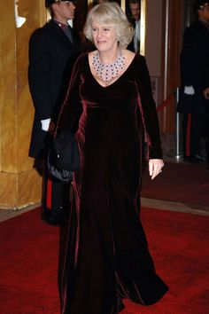 Camilla Parker-Bowles, the Duchess of Cornwall, has dressed in a number of stylish outfits for royal engagements, weddings, and more. Beautiful Wedding Gowns, Beautiful Dresses, Lady Charlotte Wellesley, Prince Charles And Diana, Prince William, Camilla Duchess Of Cornwall, Off Shoulder Gown, Camilla Parker Bowles, Velvet Gown