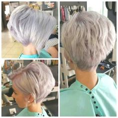 Pinned Hair– Popular Easy Hairstyle, Pinned hair is among the most stealthily easy hairstyles for long hair. Short Hair Cuts, Short Hair Styles, Hair Cuts For Over 50, Graduated Bob, Blonder Bob, White Hair, Easy Hairstyles, Hair Pins, Hair Beauty