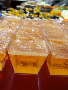 Bellini Jell-O Shots (peach and champagne)