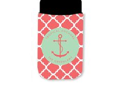 SET of 4 Personalized Koozies with Monogram by LoveyDoveyCreations, $44.00