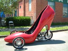 This amazing high-heeled shoe car was photographed at the Seattle Art Car Blowout.