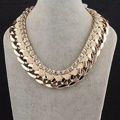 [Statement Series] Women Chunky Bib Choker Collar Necklaces - White [MR.TIE] Exquisite Vintage Necklaces