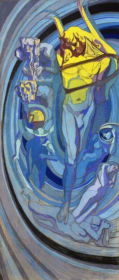Stanisław Wyspiański, Apollo. System Kopernika, projekt witraża do Domu Towarzystwa Lekarskiego w Krakowie | 1904, Muzeum Narodowe w Krakowie