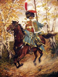 French; 9th Hussars, Sous Chef d'Escadron, c.1809. A tribute to Édouard Detaille, by Lucien Rousselot and Alphonse Lalauze.
