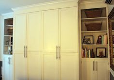 Ikea PAX & bookcases + molding