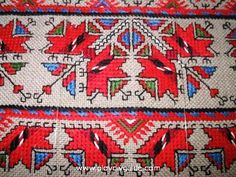 Bulgarian embroidery Folk Embroidery, Embroidery Patterns, Stitch Patterns, Textiles, Bulgarian, Rustic Christmas, Folklore, Bohemian Rug, Needlework