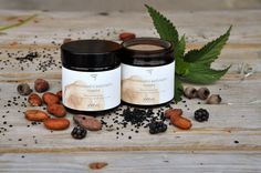 Detox exfoliating mask with activated charcoal, nettle, black currant and raw cacao...