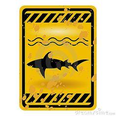 Shark sign by Pedro Nogueira, via Dreamstime